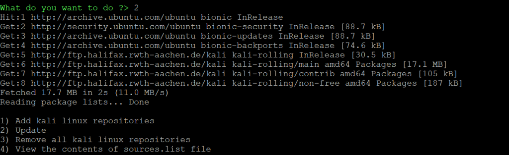 Install Kali Linux Tools using Katoolin in LXD Containers